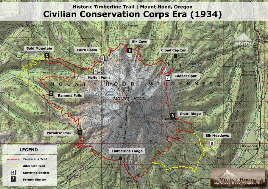 Muddy Fork WyEast Blog - Oregon hiking trails map
